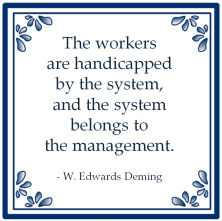 systeemdenken deming system management handicapped